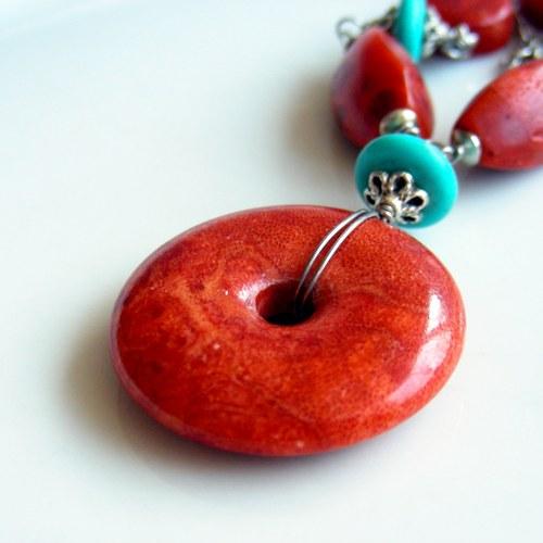 Náhrdelník - korálový donut II.