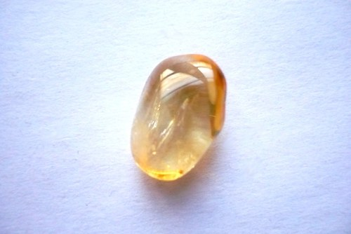 Troml. kámen – citrín, 16 mm, č.8