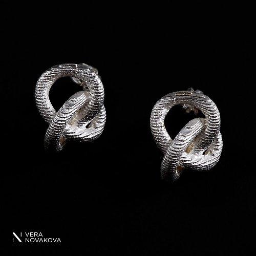 Náušnice Uzle - stříbro