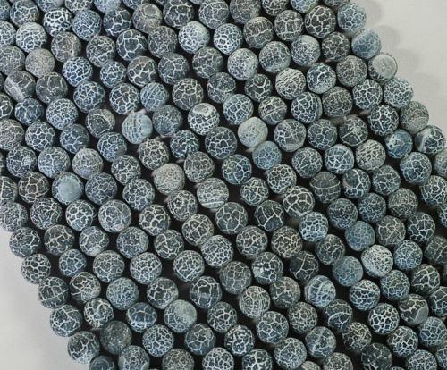 Dračí achát - kuličky 6 mm - cena za 4 ks