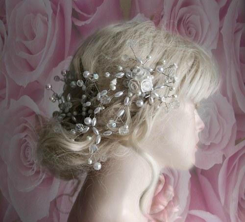 Svatební ozdoba do vlasů Claudine ice roses