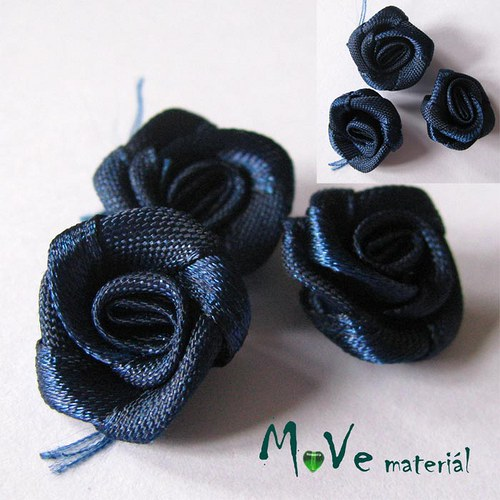 Růžička saténová modrá Ø20mm, 10kusů