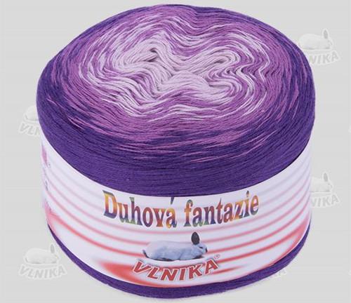 Příze Duhová fantazie - tmavě fialová