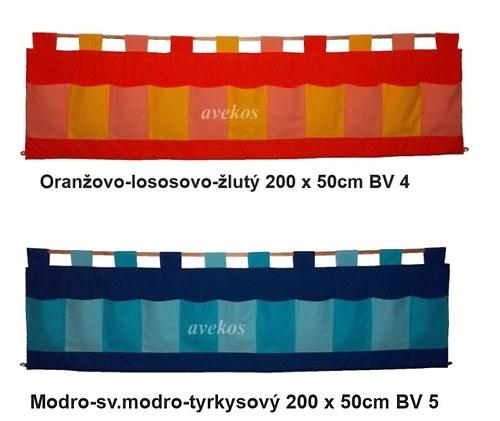 Kapsář za postel - Trojbarevný 200 x 50cm BV4,5