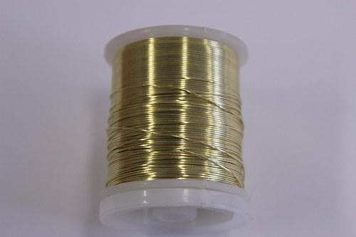 Měděný drátek 0,5mm - champagne, návin 19-21m