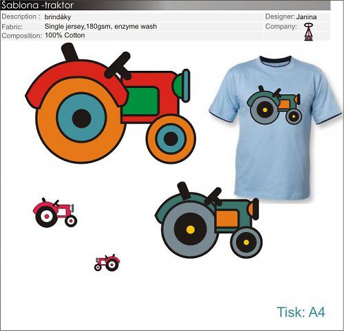 šablonka traktor