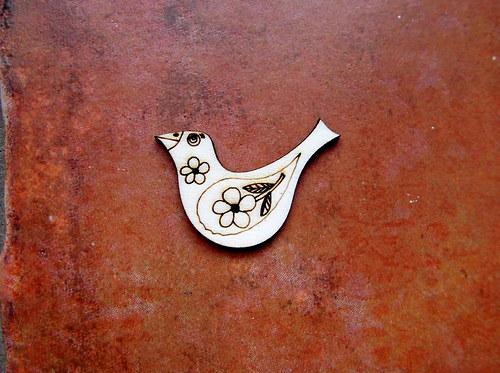 2D výřez ptáček č.2- cca v.3x4,5cm