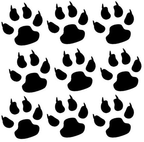 Psí packy (9ks) - samolepky na stěnu 3,5 x 3,5cm