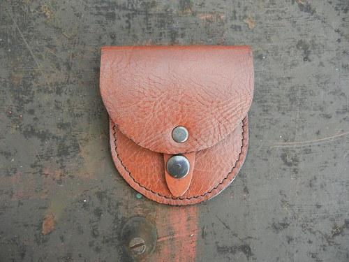 Malá kožená peněženka na drobné