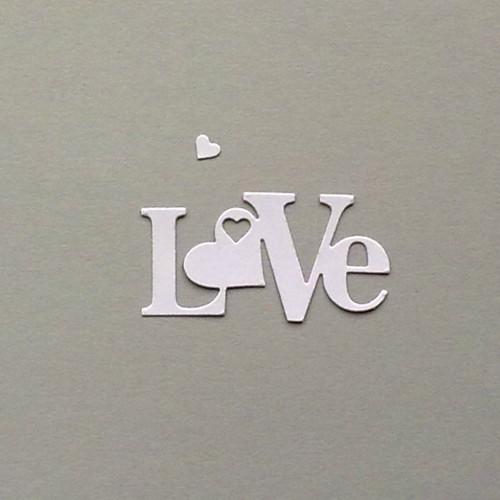 Nápis Love - barva dle přání