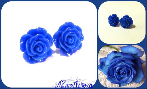Modré růžičky