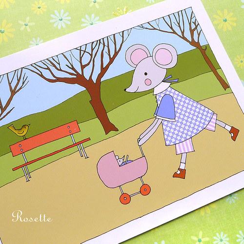 V březnu chodí Maruška do parku  -  pohlednice
