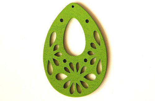 Dřevěné kapky- světle zelené