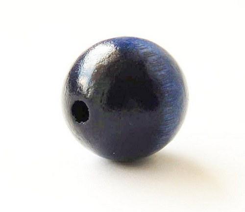 2ks dřevené korálky- tmavě modré