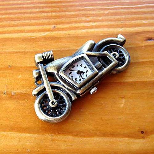 Kapesní Hodinky - Motorka - Bronzové