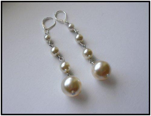 Náušničky čistě perličkové