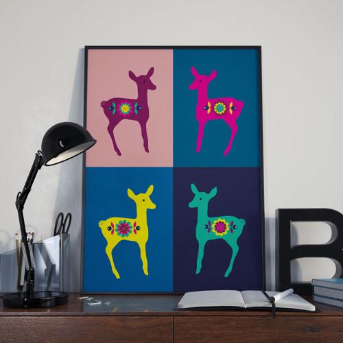 Plakát Srnky I. 50x70 cm