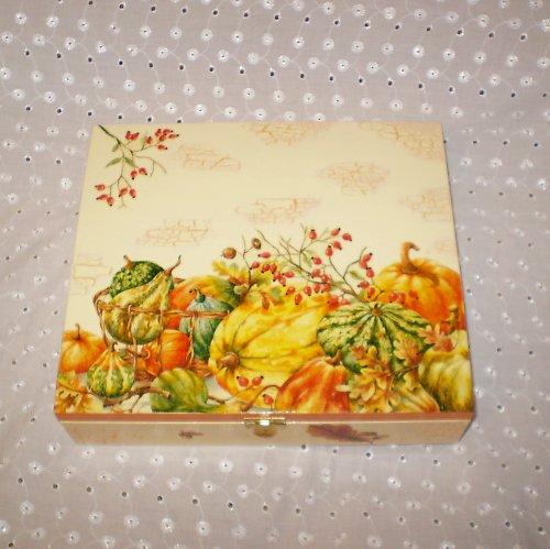 Krabička na čaj 12-ti přihrádková s dýněmi