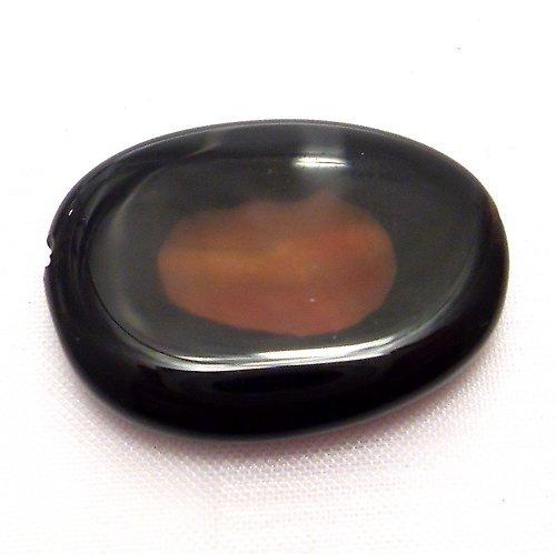 Korálky - přírodní  chalcedon achát (cena za 1 ks)
