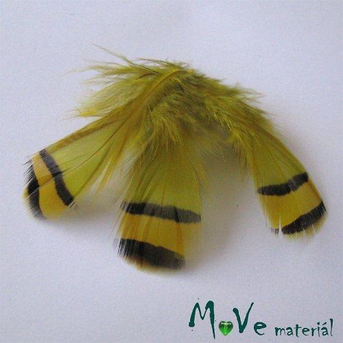 Ozdobné koroptví peří délka 30-90mm, 4ks žluté