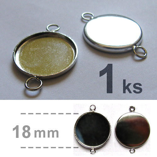 Lůžko se dvěma oky (18mm) - platina
