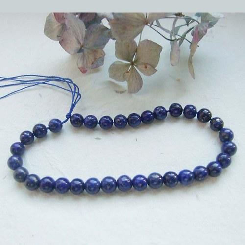 Korálky lapis lazuli 6mm, 10ks