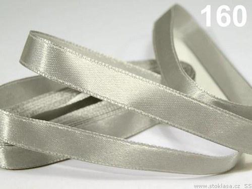 Stuha saténová š.12mm šedá