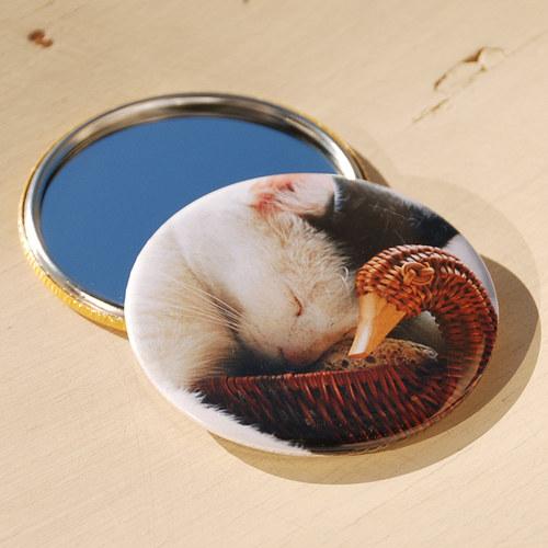 Zrcátko Kotě hají (75 mm) s pytlíčkem