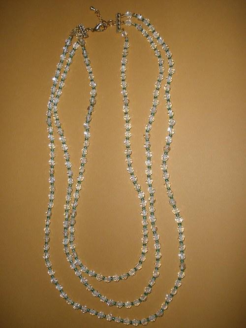 3 řadý Swarovski náhrdelník