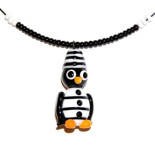 Tučňák trestanec - vinutá perle