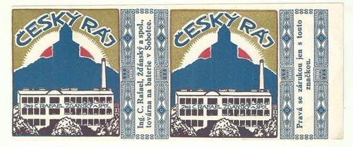 Obal český ráj TOVÁRNA NA BATERIE