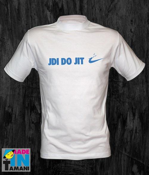 Pánské bílé tričko Jdi dojit 02