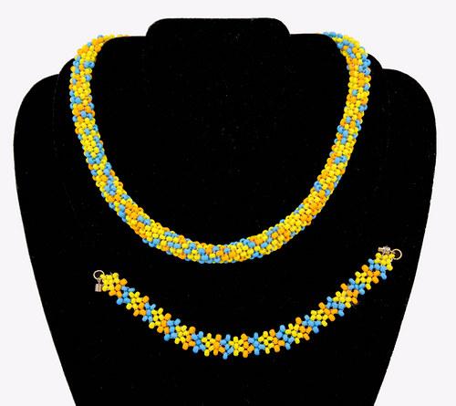 Souprava náramek a náhrdelník - letní