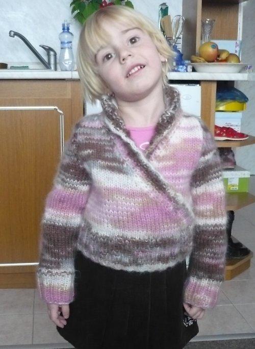 Zavinovací svetr pro malé slečny SLEVA