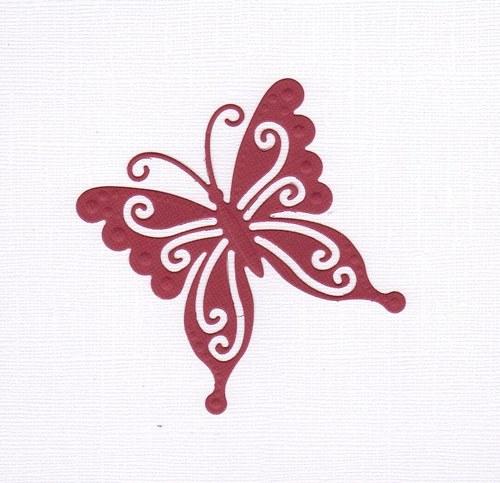 Motýlek - bordový výsek (1 ks)