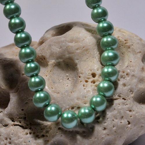46. Voskové perle 6 mm/20ks/ grass