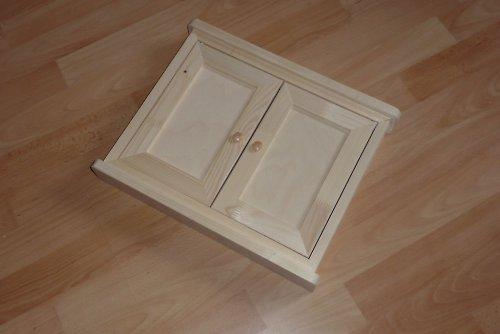 Dřevěná skříňka na klíče dvojitá