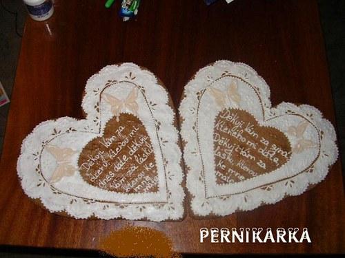 svatební srdce děkovací