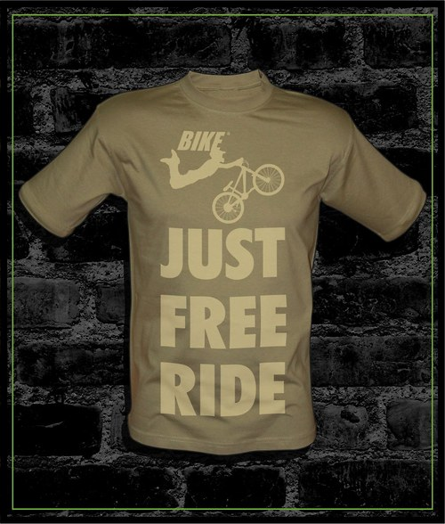 Pánské khaki tričko Bike