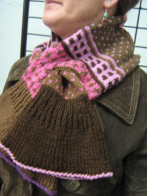 Pletená dutá šála - Laponie