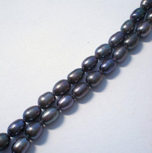 Perly přírodní - oválky  6-7 mm 4 ks