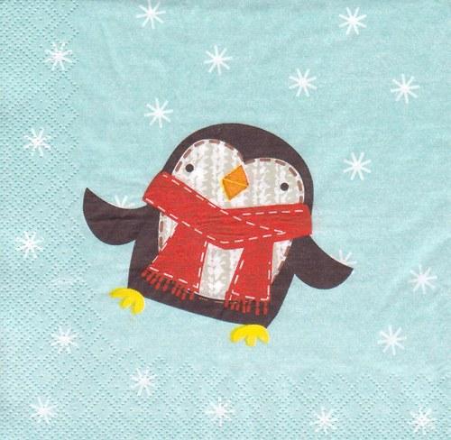 Ubrousek - tučňák (3 ks - AKCE)