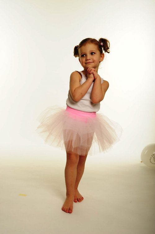 Tylová sukně růžová (3-6 let)