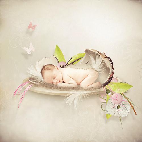 Scrap z vaší fotky (kit Pink Spring)