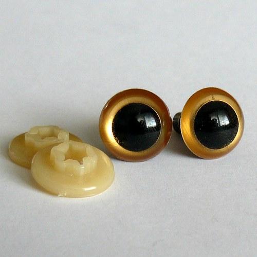 Bezpečnostní oči - zlatá, 17 mm
