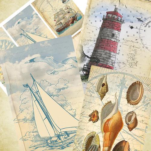 Nažehlovací obrázky - Ocean Love - cena za 6 ks