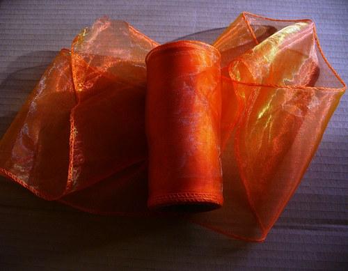 organza stuha 11cm-oranžová