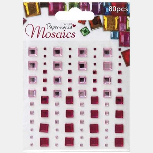 Samolepící kamínky - mozaika - růžové