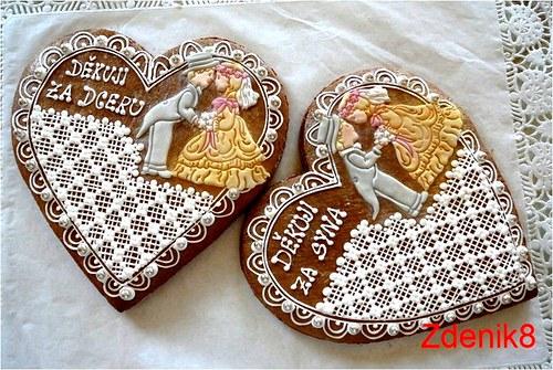 Svatební srdce děkovné - balené