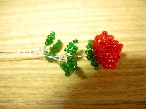 Růžička z korálků